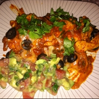 Paleo Chicken Enchiladas with Coconut Flour Tortillas