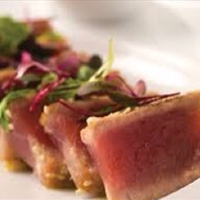 Pan-Seared Tuna with Onion-Soy Vinaigrette