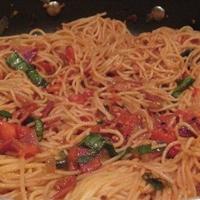 Pancetta Tomato Spaghetti