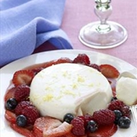 Panna Cotta with Balsamic Berries