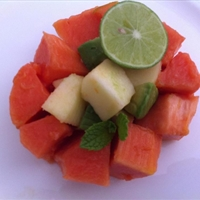 Papaya Apple Avocado Lime Salad
