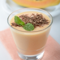 Papaya - banana yogurt smoothie