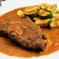 Pasilla Country Style Pork ribs (Costillas de cerdo en salsa pasilla)