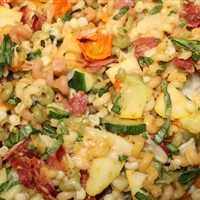Pasta- Cavatappi W Bacon & Veggies