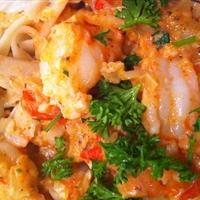 Pasta- Linguine w Spicy Shrimp