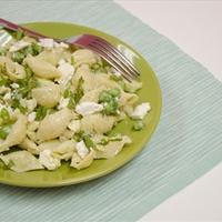 Pasta Salad with Kefir, Peas & Cheese