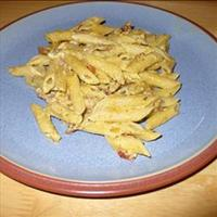 Pasta with a Creamy Pesto And Parma Ham Sauce