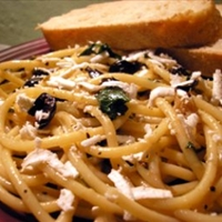 Pasta with Olives, Capers, and Parsley