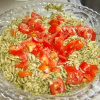 Pasta with Pesto sauce and cream