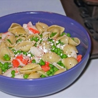Pea and Crab Pasta Salad