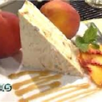 Peaches and Cream Frozen Tiramisu