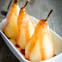 Pears Poached in Port