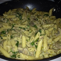 Penne with Sausage and Spinach