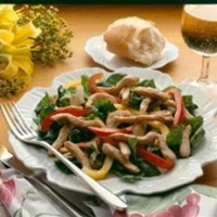 Pepper and Swiss Chard Turkey Stir Fry