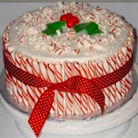 Peppermint Drum Cake