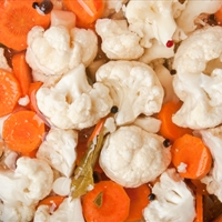 Pickled Cauliflower and Carrots