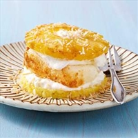 Pineapple  and  Coconut Napoleons