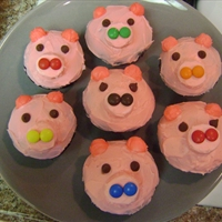 Pink Piggy Cupcakes