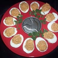 Pizza Stuffed Eggs