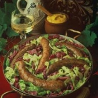 Polish Sausage with Cabbage