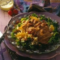 Pork, Brown Rice, Cherry and Pecan Salad