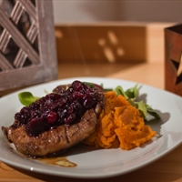 pork cutlets with cranberry port sauce