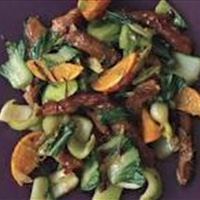 Pork Tenderloin Stir-Fry with Tangerines and Chili Sauce