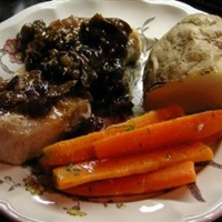 Pork with Armagnac Prune Sauce