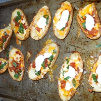 Potato Skins with Cheese and Bacon