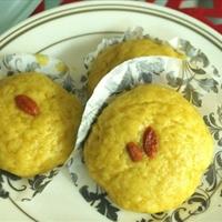 Pumpkin kikaku 南瓜 (eggless, steam)