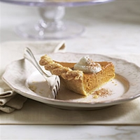 Pumpkin Pie with Brandied Ginger Cream