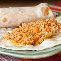 Quick Chicken and Rice Burritos