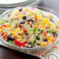 Quick Quinoa Salad (healthy, side)