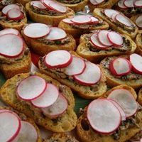 Radishes with Butter, Crusty Bread And Sea Salt