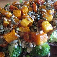 Rainbow Superfood Salad with Mackrel