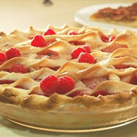 Raspberry, Rhubarb And Pear Pies