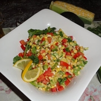 Raw Fiesta Corn Salad