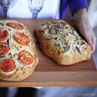 Red Onion & Garlic Focaccia