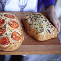Red Onion & Garlic Focaccia