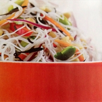 Rice Noodle and Edamame Salad