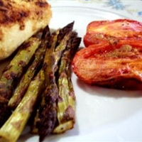 Roast Asparagus and Plum Tomatoes (1 Pt.)
