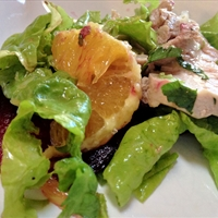 Roast Pork, Orange, and Beet Salad