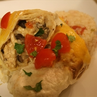 Roasted Chipotle Chicken Burritos