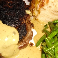 Roasted Filet Mignon with Brandy and Peppercorn Sauce
