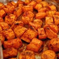 Roasted Salted Sweet Potatoes
