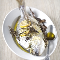 Roasted Sea Bream with Lemon and Olive Oil