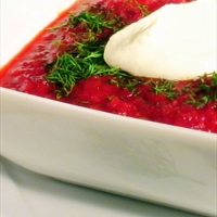 Russian Borscht (Beet Soup)
