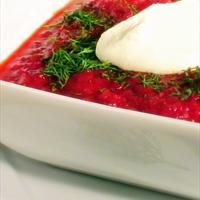 Russian Borscht (Beet Soup)