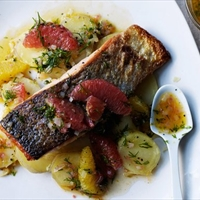 Salmon and citrus dill