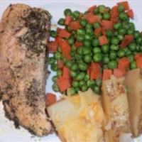 Salmon Fillets in Garlic Broth
